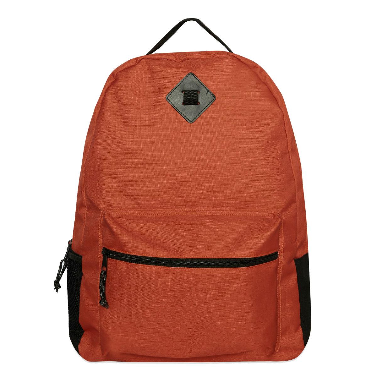Orange backpack, £8, Primark