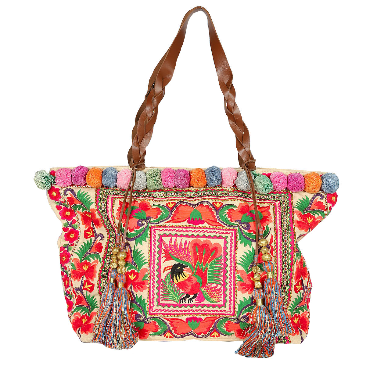 Floral embroidered shopper bag, £39, Marks & Spencer