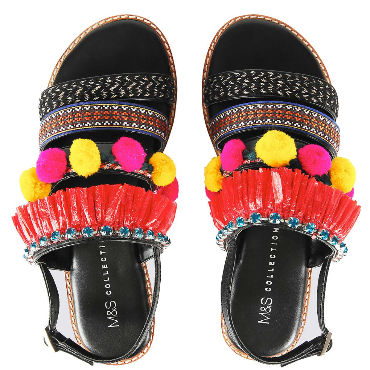 Multi strap pom pom sandals, £35, Marks & Spencer