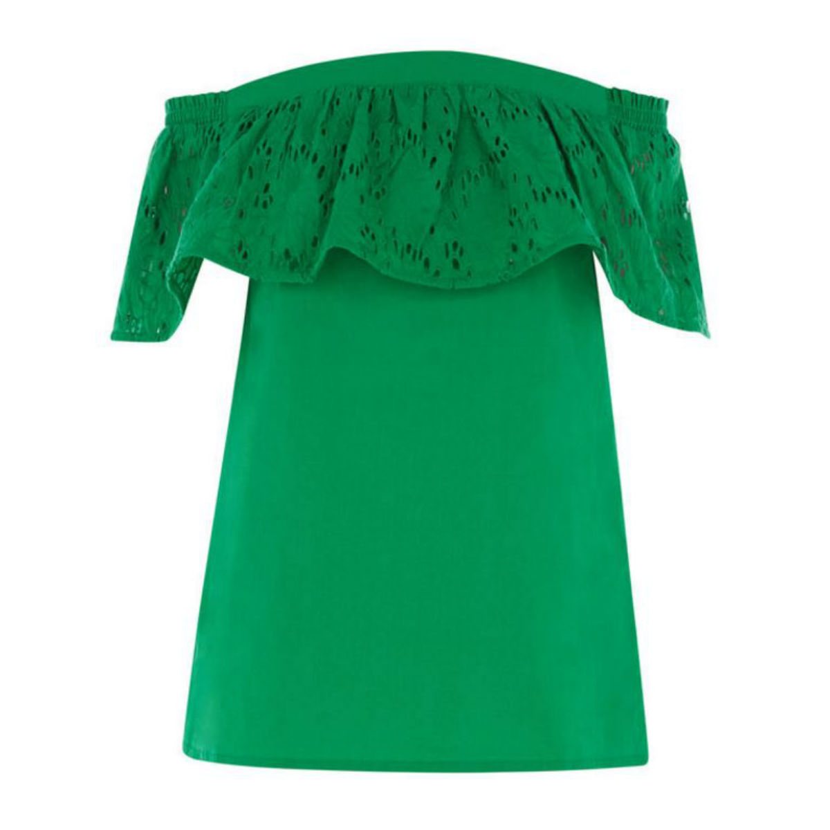Broderie off-the-shoulder top, £29, Warehouse