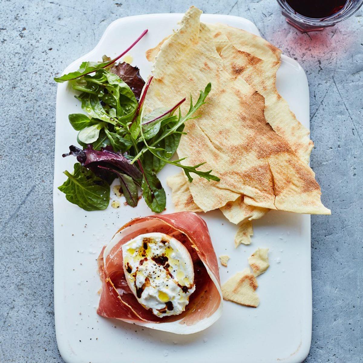 Burrata and Proscuitto