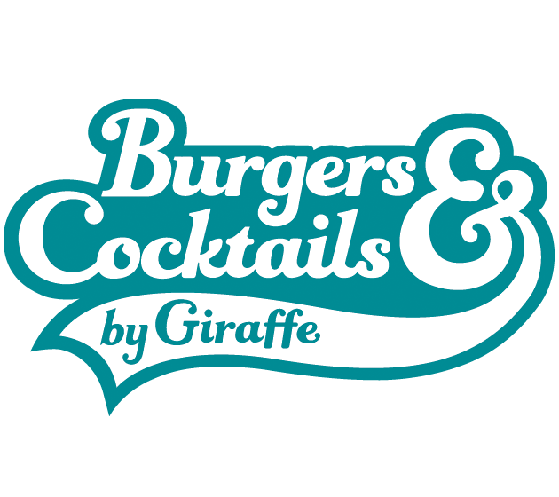 Burgers and Cocktails by Giraffe Logo Xscape