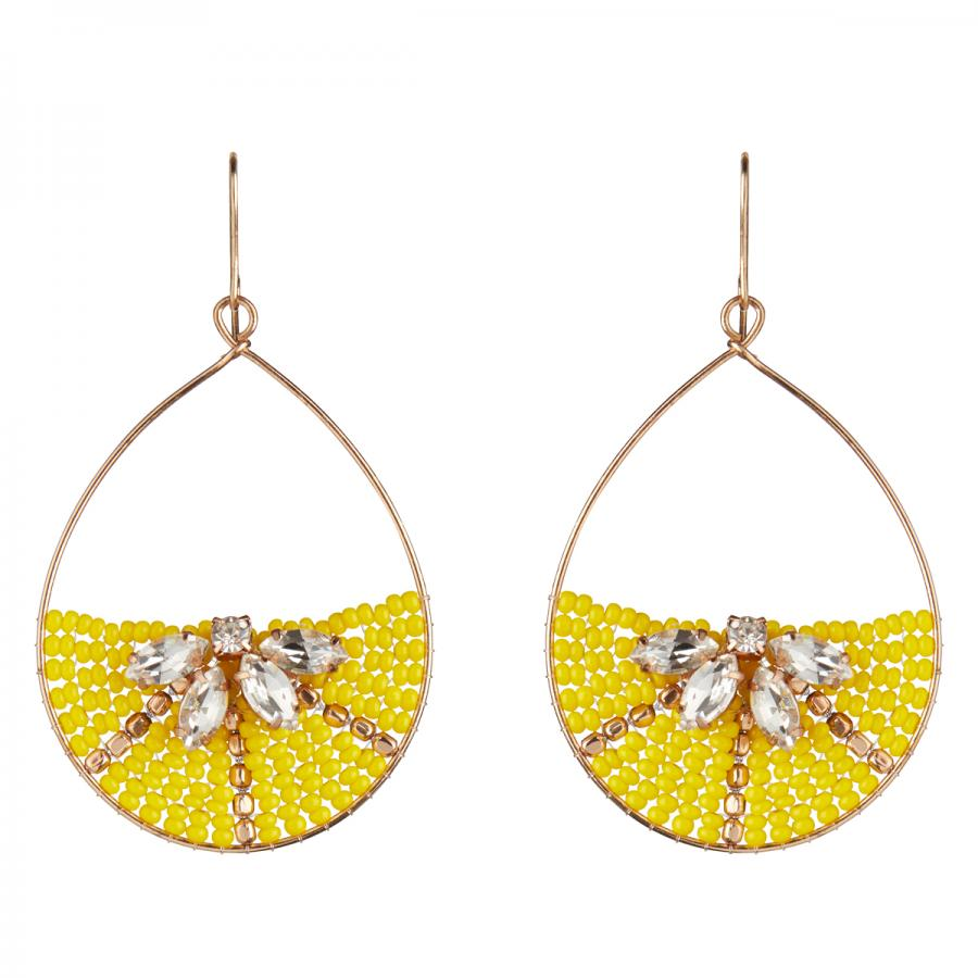Think lemon slices are only for G&Ts? Think again! We love these lemon beaded hoop earrings, £9 from Accessorize.