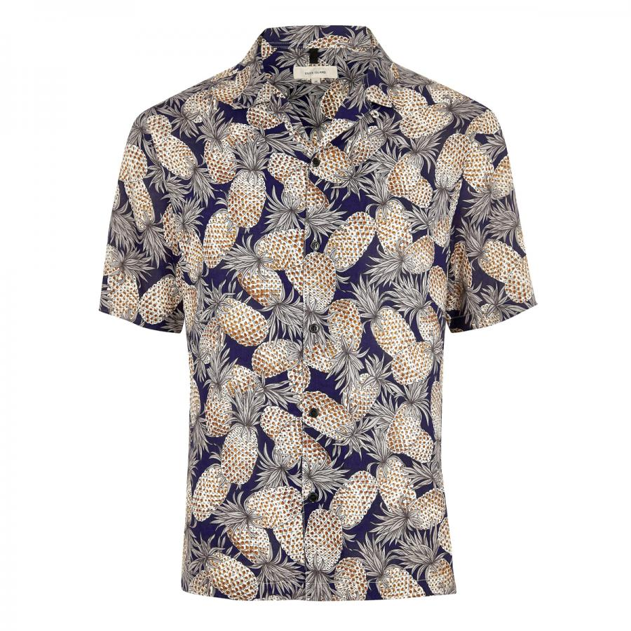 Gents! Get into the swing of summer with this short sleeved pineapple print shirt, £25 from River Island.