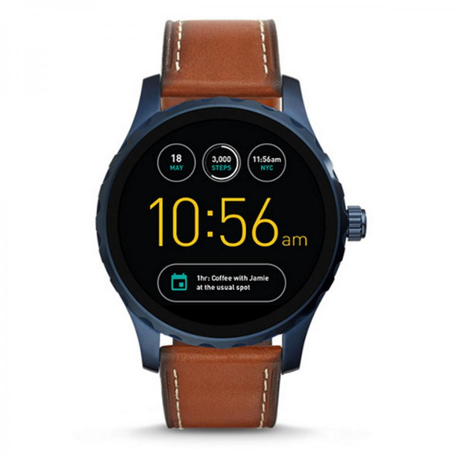Gen 2 smartwatch Q Marshal brown leather, £229, Fossil