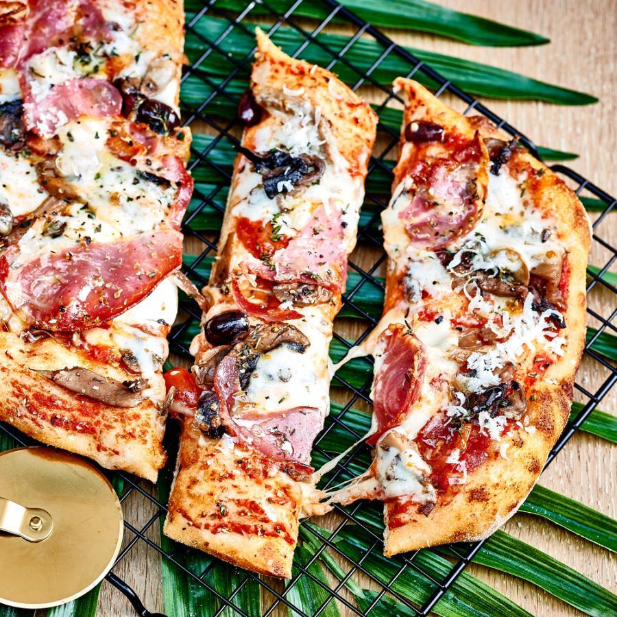 Alto pizza ham and Scamorza cheese