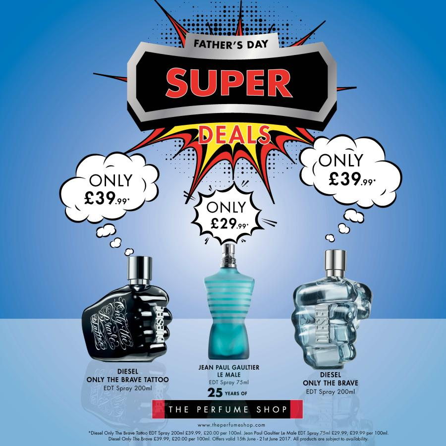 Treat your dad to The Perfume Shop's superhero scents this Father's Day. They've got some great offers on some dads favourite fragrances, including Diesel's Only the Brave!