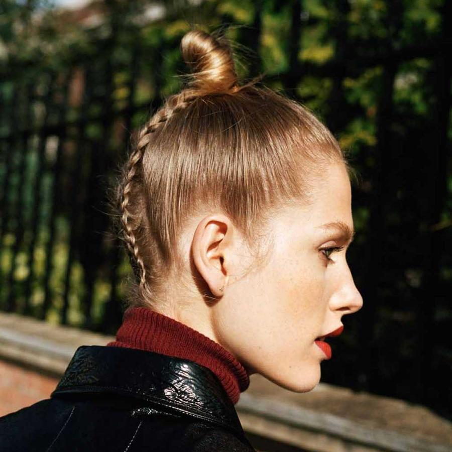 Dirty ballerina: Good girl gone bad. It's business at the front and party at the back with this tight top knot and unexpected braid at the back.