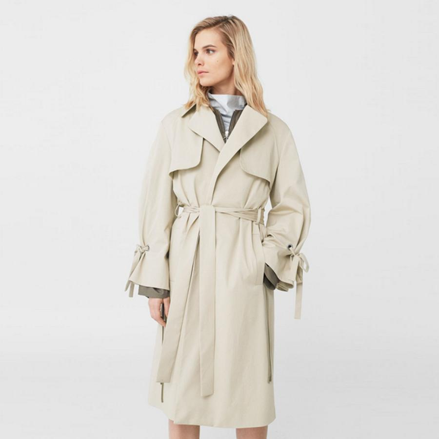 Decorative bows stone trench coat, £119.99, Mango
