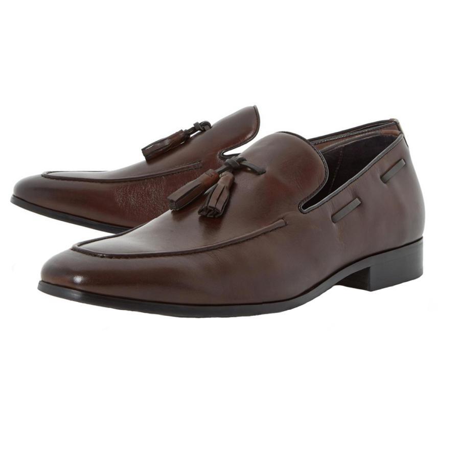 The spring shower-proof shoe - Rolands chisel toe tassel loafer shoe, £95, Dune