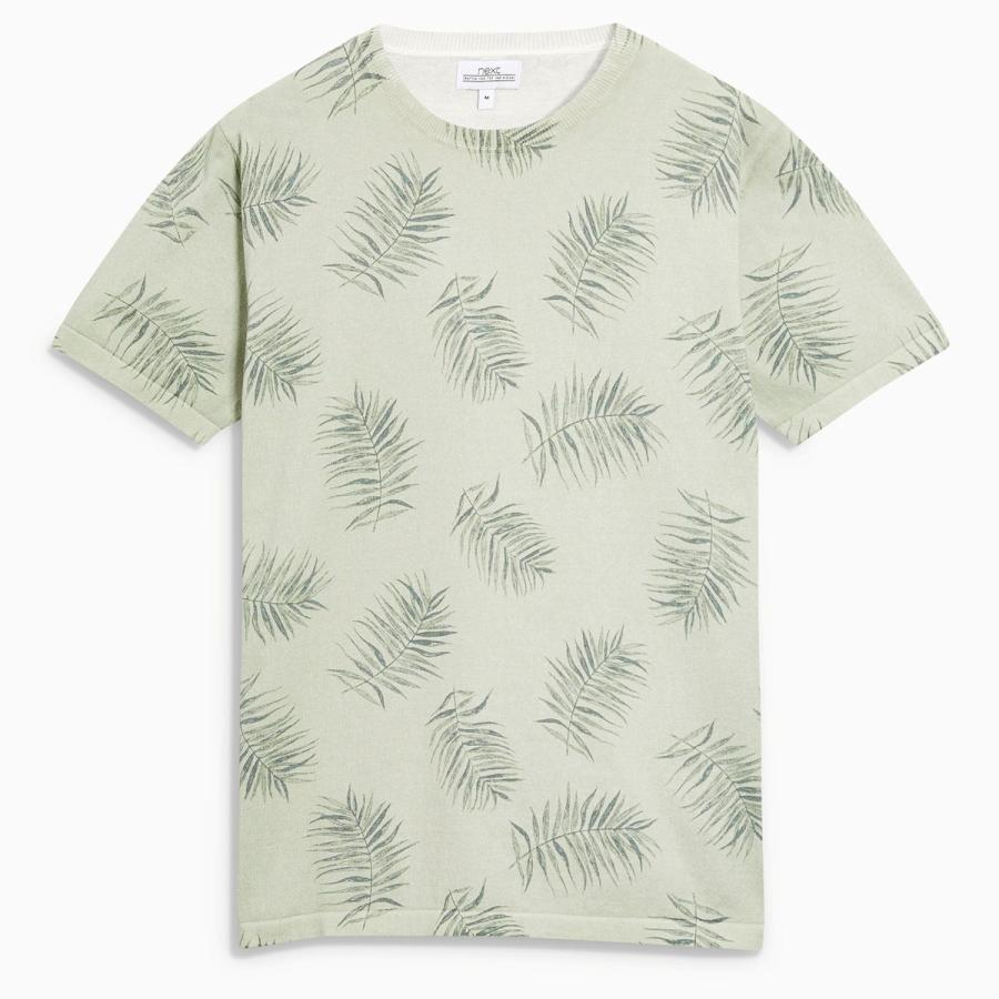 The layer-it-up tee - Leaf print crew top, £28, Next