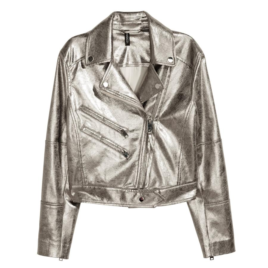 Metallic biker jacket, £49.99, H&M