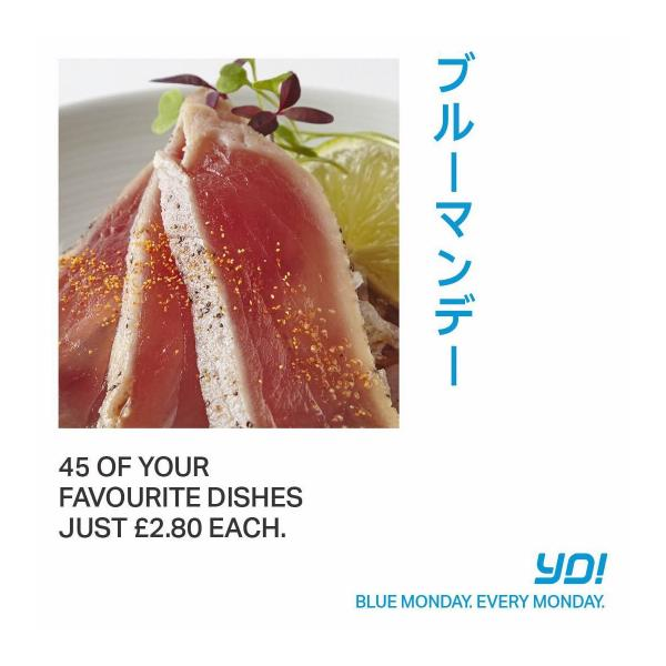 Blue Monday at Yo Sushi