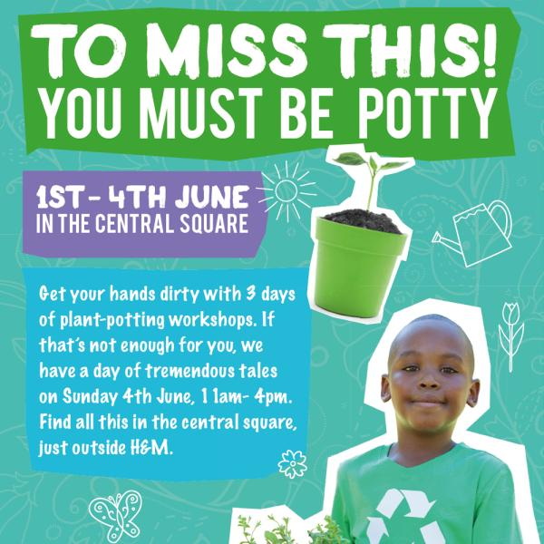 Get your hands dirty this May half term with plant potting workshops